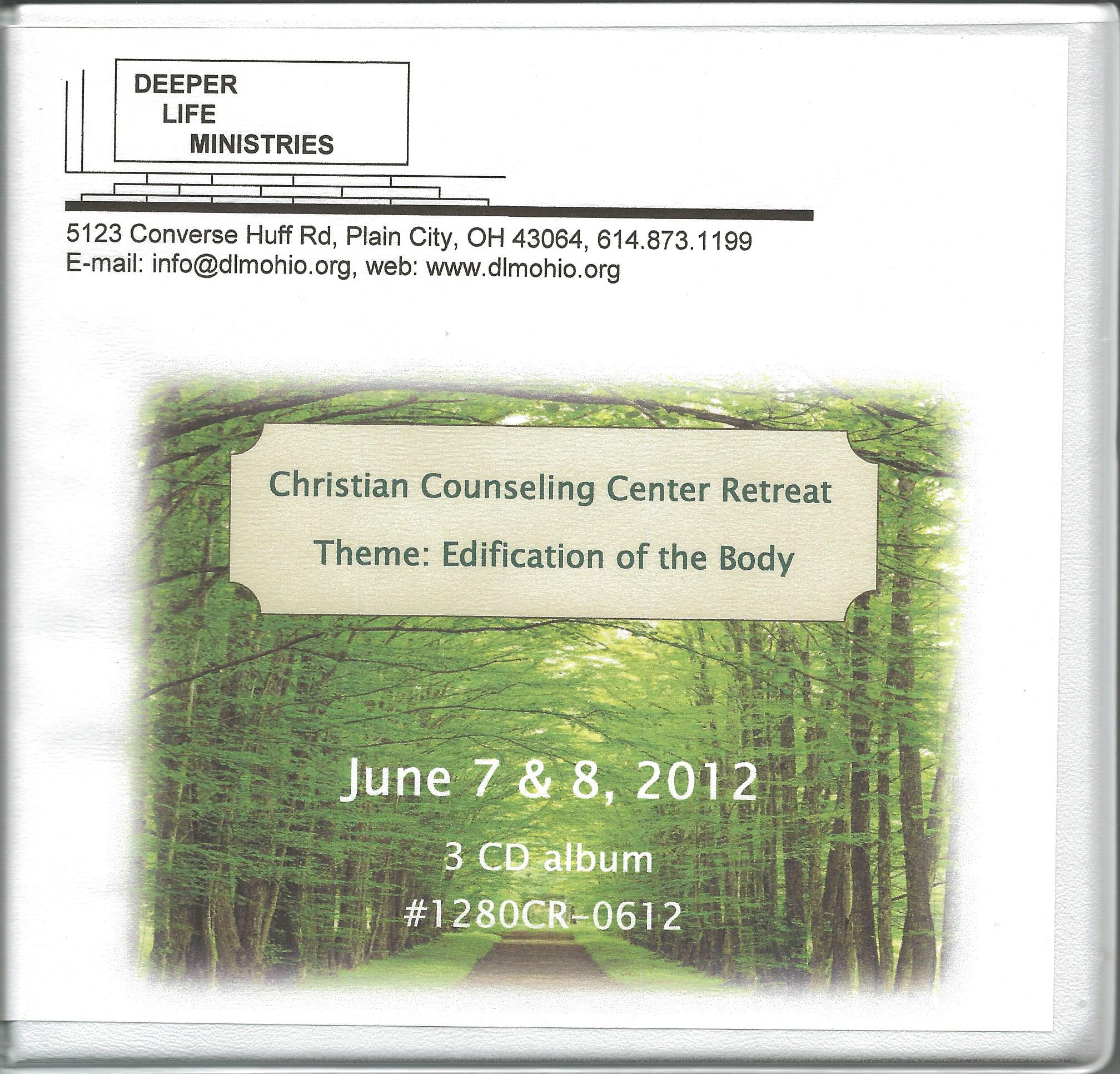 CHRISTIAN COUNSELING CENTER RETREAT 2012, CDs
