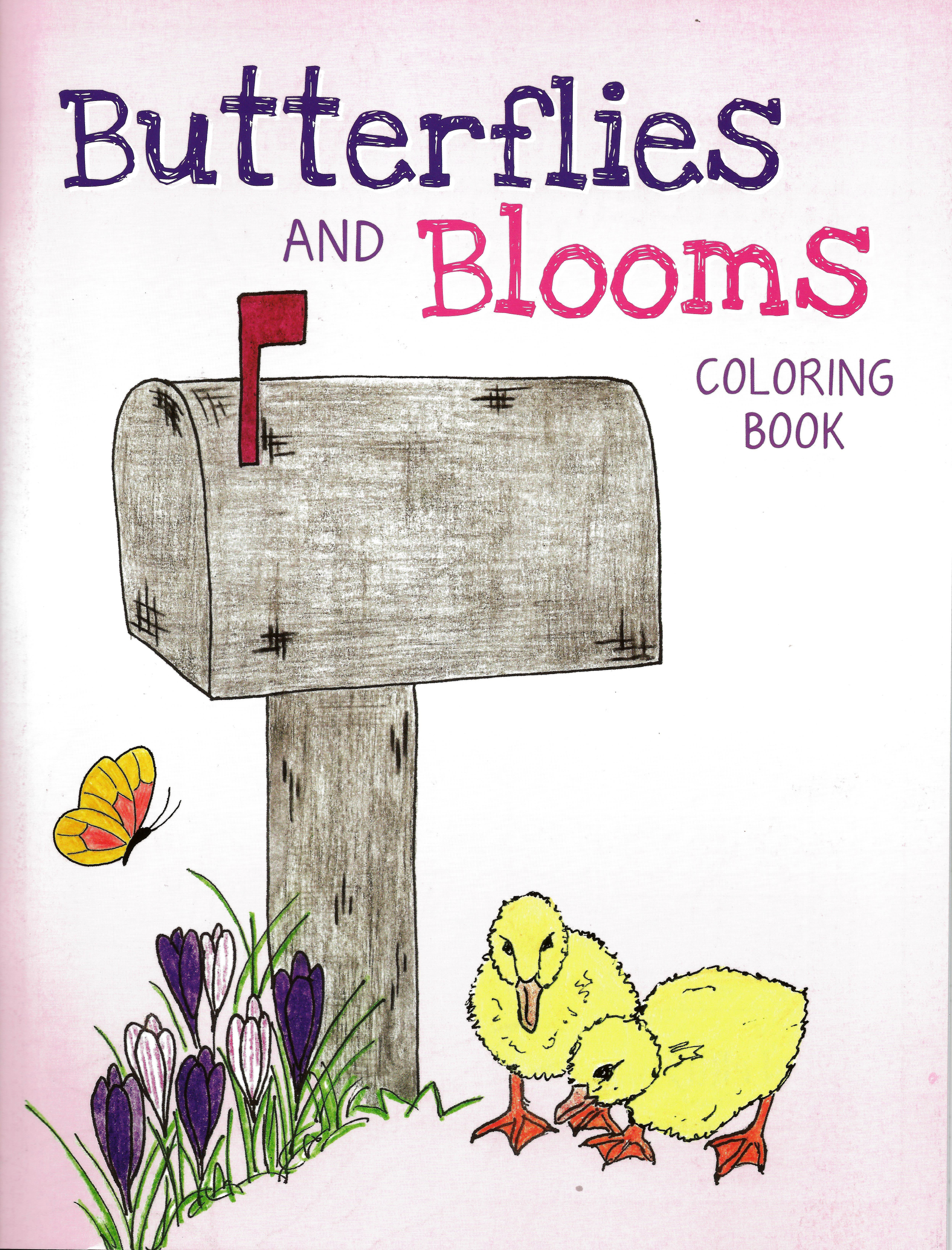 Butterflies and Blooms Coloring Book