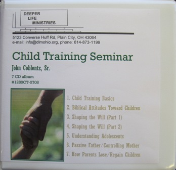 CHILD TRAINING John Coblentz