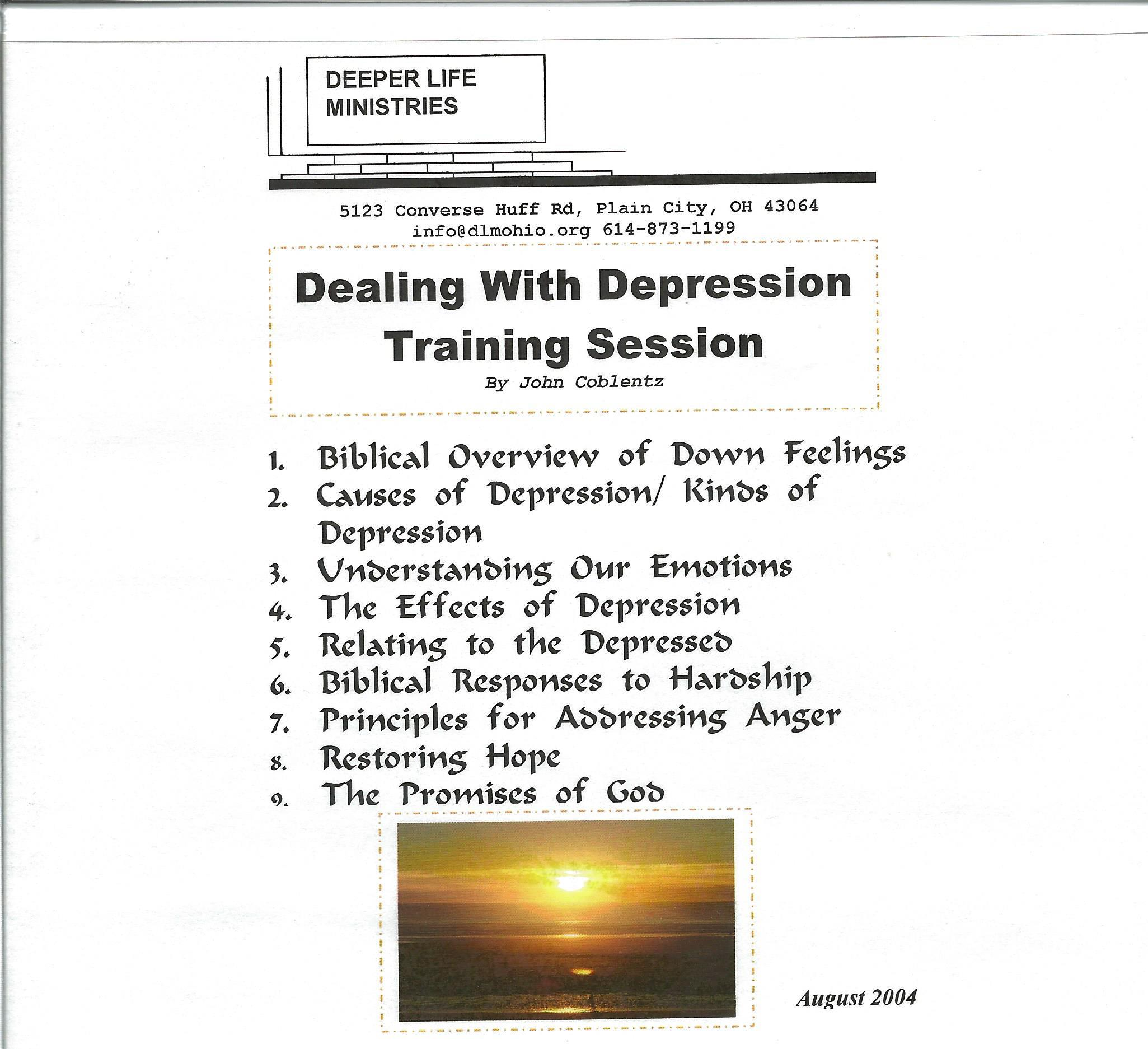 DEALING WITH DEPRESSION TRAINING SESSION 9 CD album
