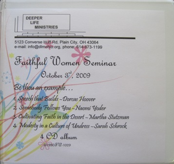 FAITHFUL WOMEN SEMINAR 2009 4 CD album