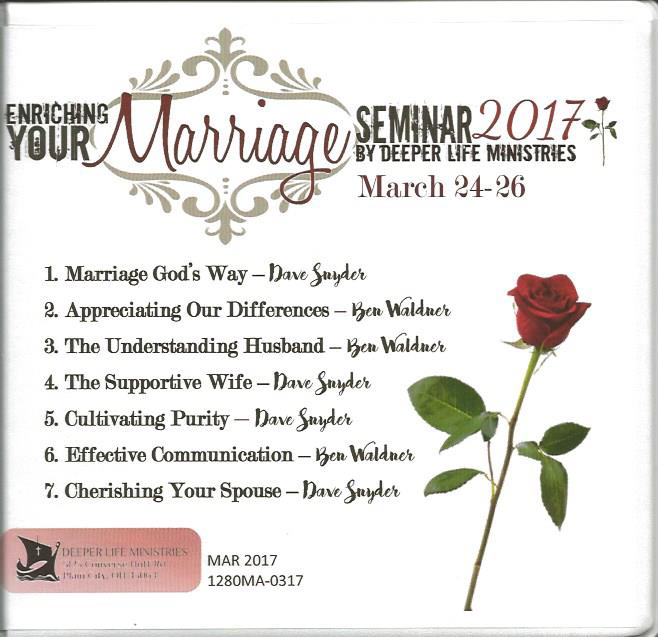 MARRIAGE ENRICHMENT SEMINAR 2017 7 CD album