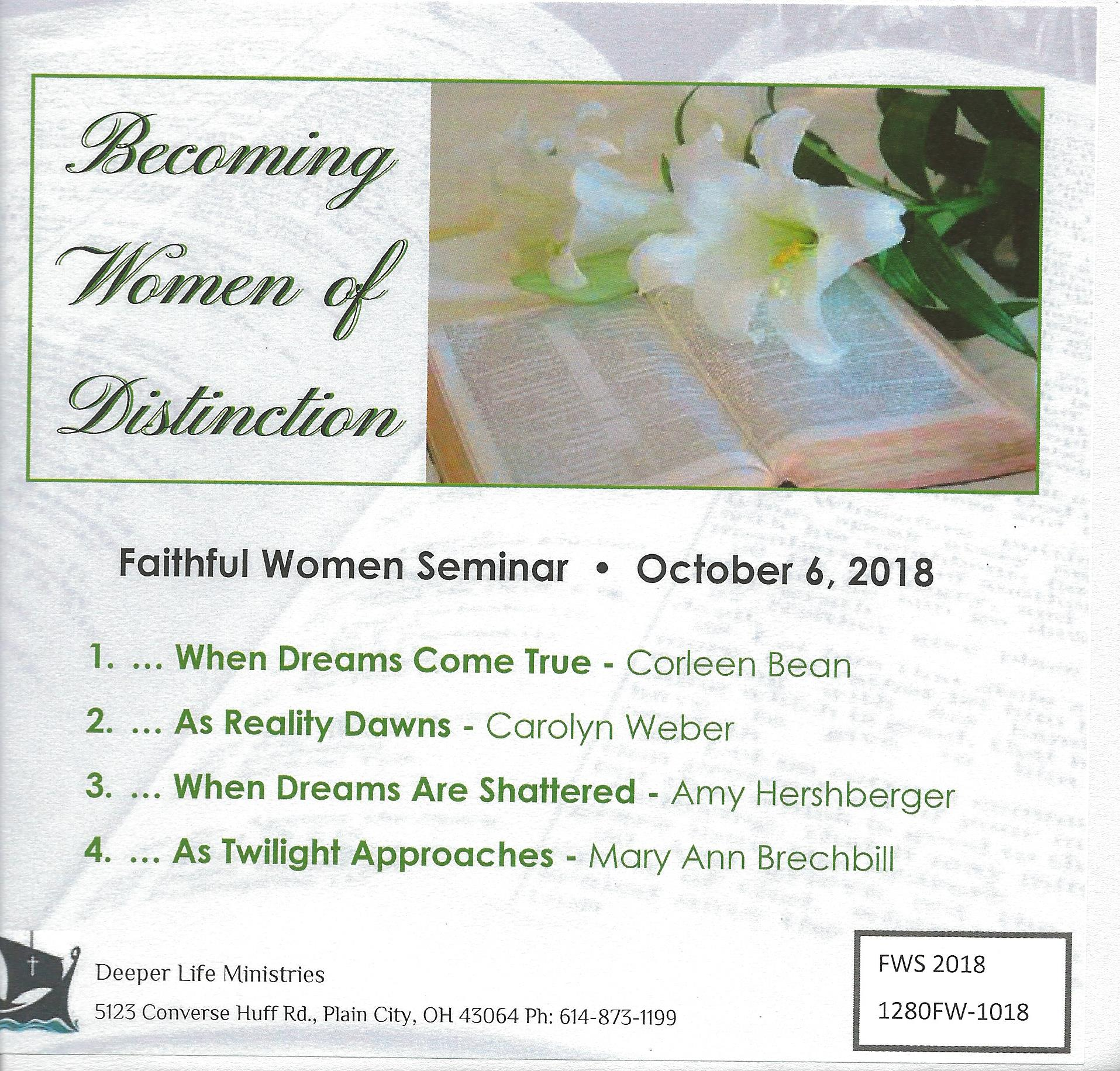 FAITHFUL WOMEN SEMINAR CDS 2018 Various Speakers