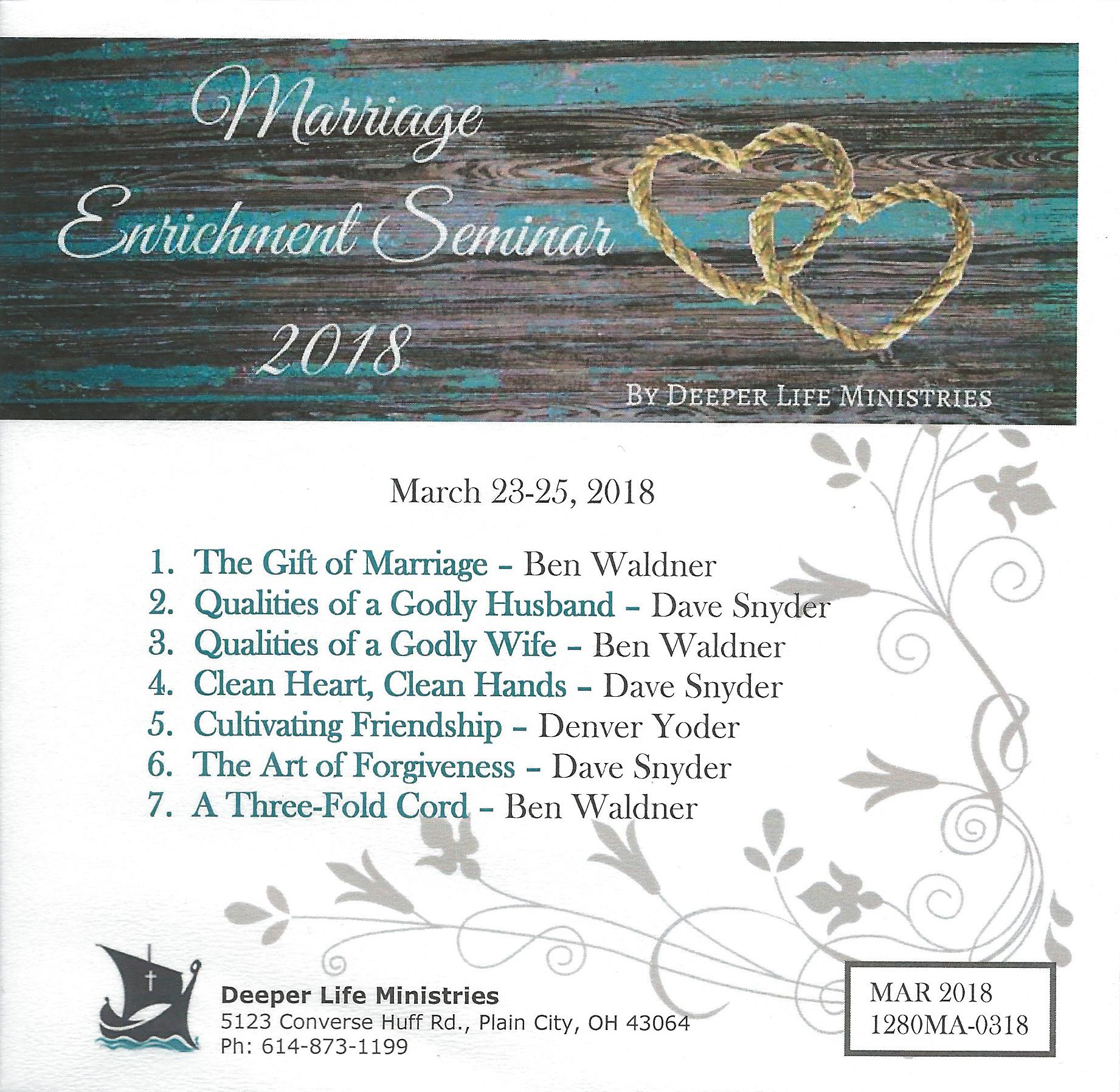 MARRIAGE ENRICHMENT SEMINAR 2018 7 CD Album