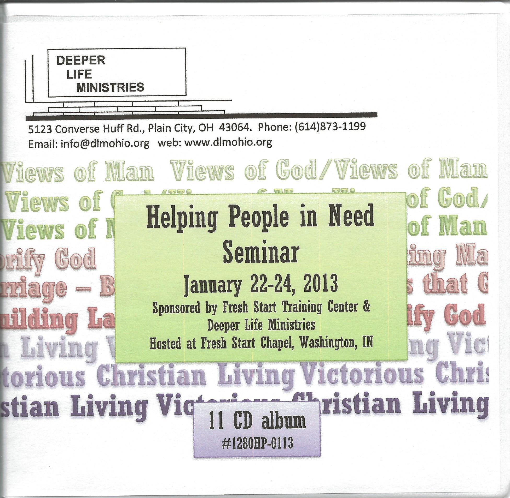 HELPING PEOPLE IN NEED SEMINAR 2013 11 CD album