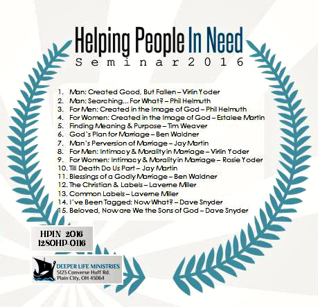 HELPING PEOPLE IN NEED SEMINAR 2016 Various Speakers
