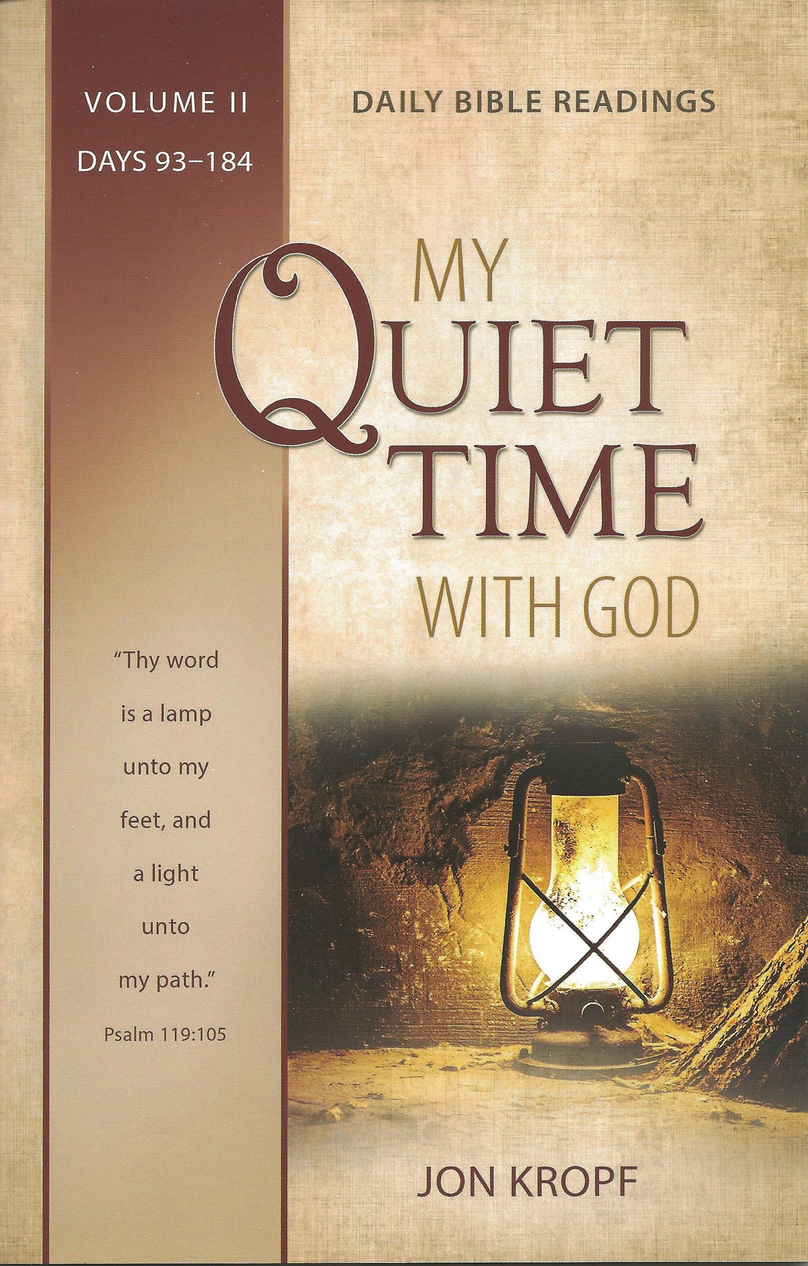 MY QUIET TIME WITH GOD VOL. II Jon Kropf