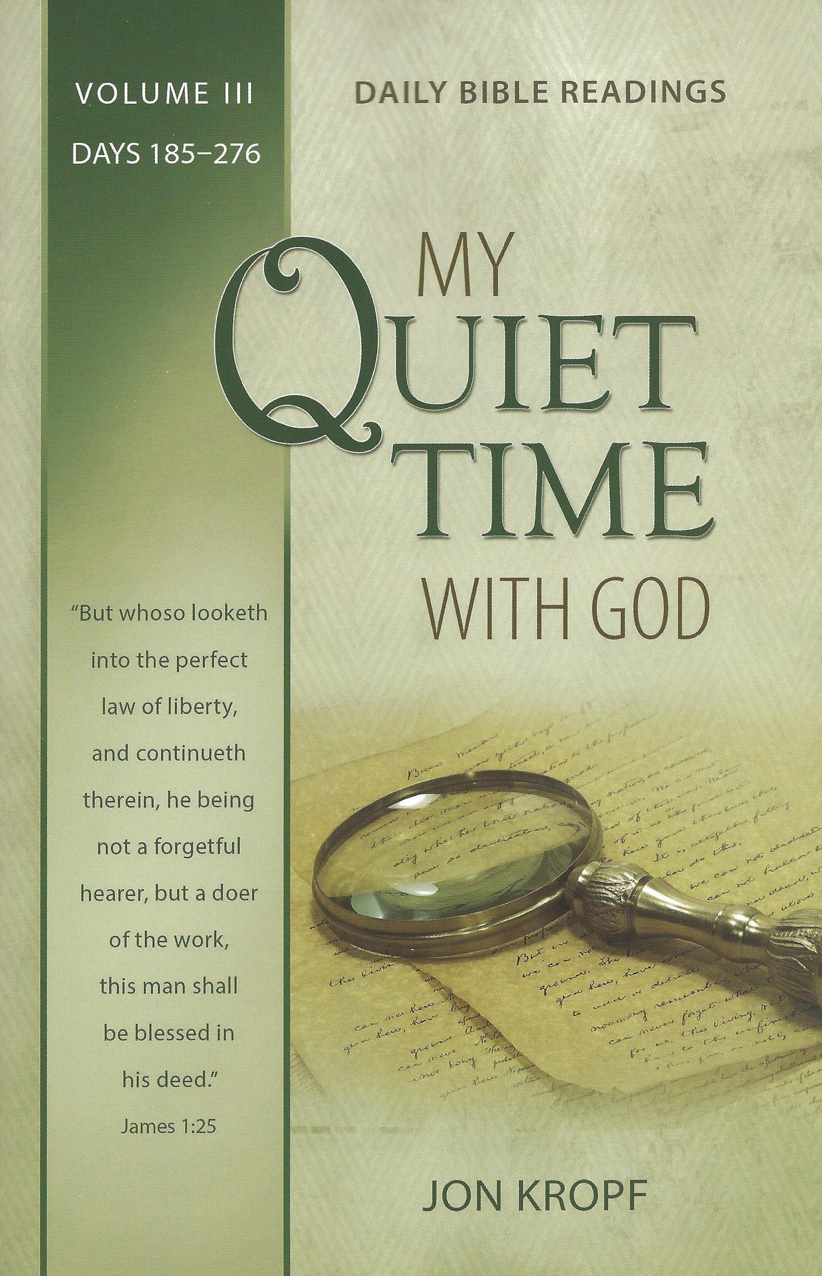 MY QUIET TIME WITH GOD VOL. III Jon Kropf