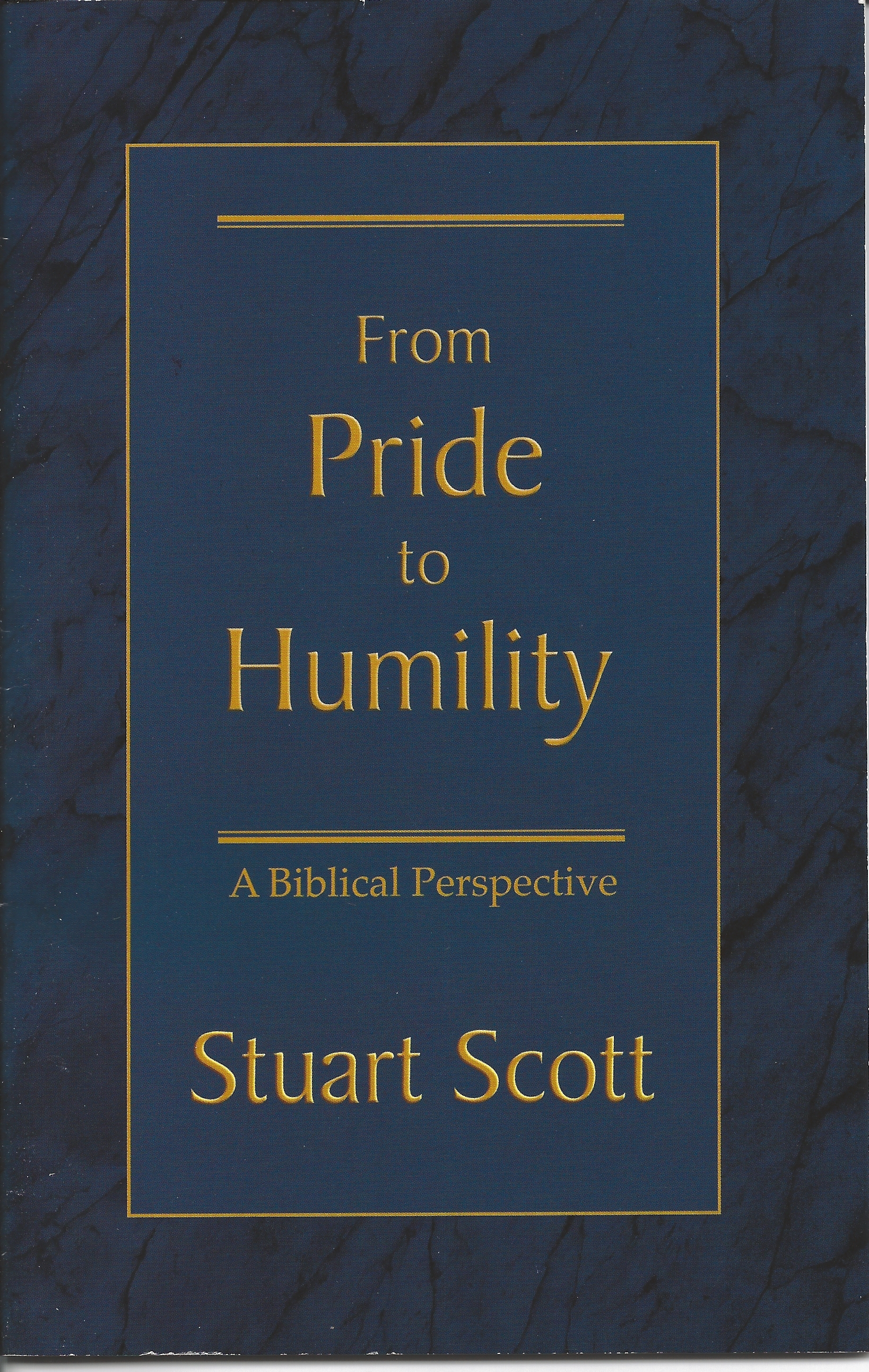 FROM PRIDE TO HUMILITY Stuart Scott