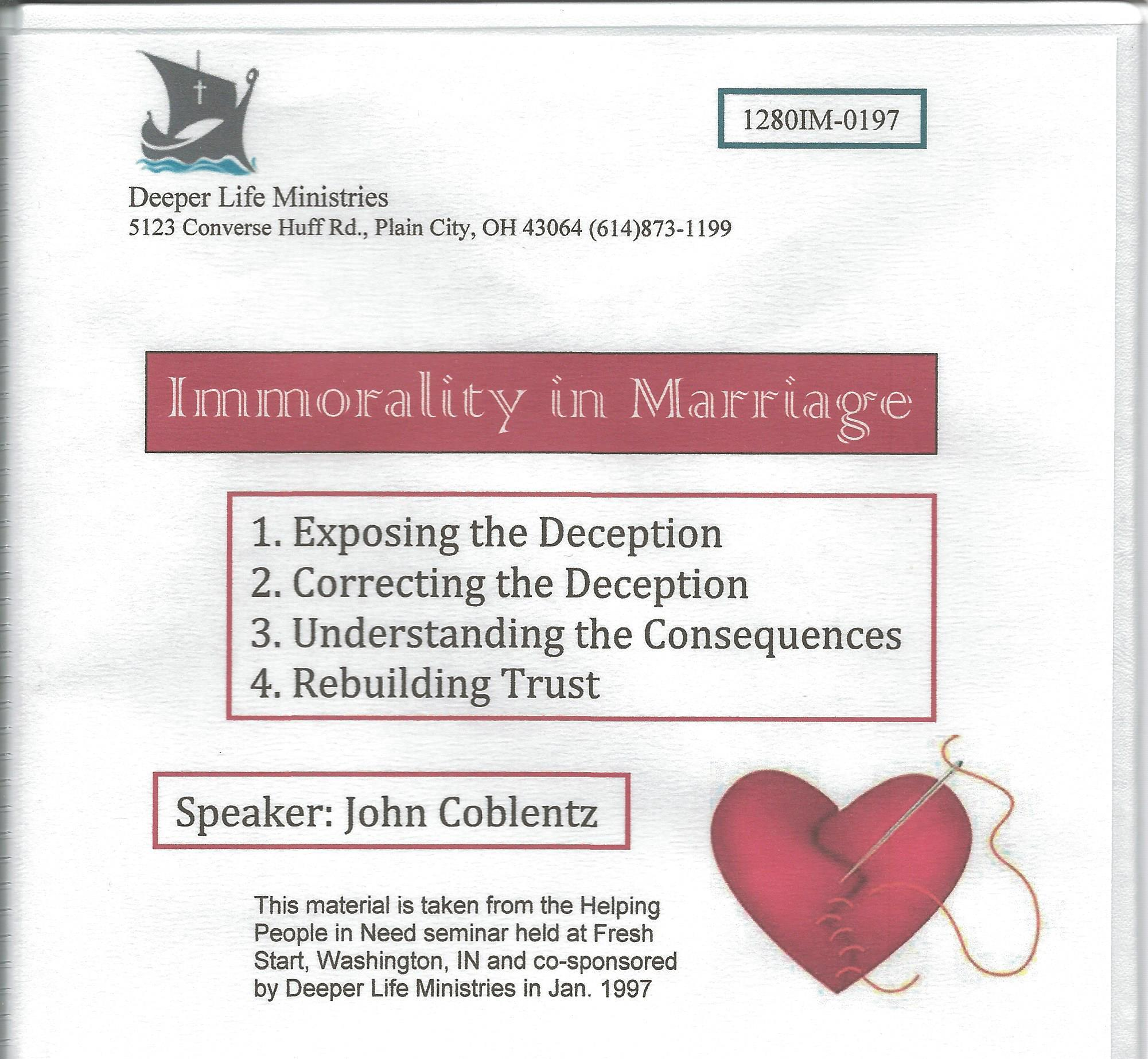 IMMORALITY IN MARRIAGE 4 CD album